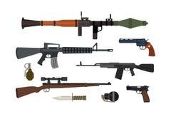 Coleção do vetor das armas ilustração royalty free