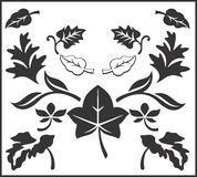 Coleção do vetor de Autumn Leaves Imagem de Stock Royalty Free