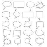 Coleção do vetor de 20 bolhas cômicas dadas forma diferentes do discurso ilustração royalty free