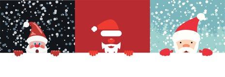 Coleção do vetor de ilustrações do Natal de Papai Noel ilustração do vetor
