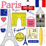 Coleção do vetor de Paris Fotografia de Stock