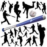 Coleção do vetor do basebol ilustração royalty free