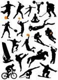 Coleção do vetor do esporte Foto de Stock