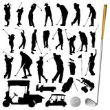 Coleção do vetor do golfe Imagem de Stock Royalty Free