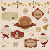 Coleção do vetor do Natal ilustração royalty free