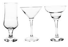 Coleção do vidro de cocktail Imagens de Stock