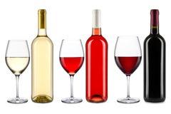 Coleção do vinho Foto de Stock Royalty Free