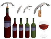 Coleção do vinho ilustração stock