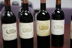 Coleção do vinho fino de Margaux do castelo fotos de stock