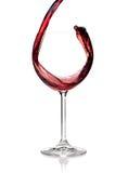 Coleção do vinho - o vinho vermelho é derramado em um vidro fotos de stock royalty free