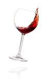 Coleção do vinho - vinho vermelho no vidro de queda foto de stock royalty free