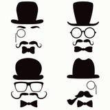Coleção do vintage do bigode Fotos de Stock Royalty Free