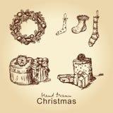 coleção do vintage do Natal Foto de Stock