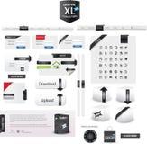 Coleção do XL dos gráficos Fotografia de Stock Royalty Free