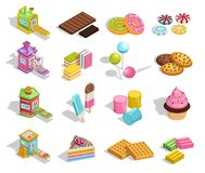 Coleção doce da pastelaria dos bens ilustração royalty free