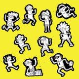 Coleção Doodled dos povos Imagem de Stock