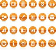 Coleção dos ícones Fotos de Stock