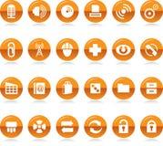 Coleção dos ícones Imagem de Stock Royalty Free