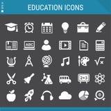 Coleção dos ícones da educação Fotografia de Stock