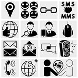 Web, ícones sociais móveis do vetor dos meios ajustados. Fotografia de Stock
