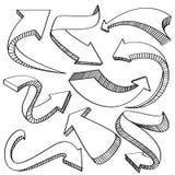 Coleção dos ícones das setas e dos sentidos ilustração do vetor