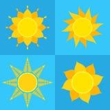 Coleção dos ícones de Sun Imagem de Stock