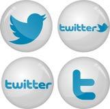 Coleção dos ícones de Twitter Imagem de Stock