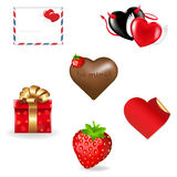 Coleção dos ícones do dia do Valentim Foto de Stock Royalty Free