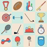 Coleção dos ícones do esporte Fotografia de Stock Royalty Free
