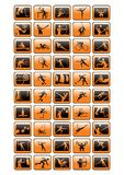 Coleção dos ícones do esporte - vecto ilustração stock