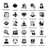 Coleção dos ícones 6 do Glyph do negócio e da gestão ilustração royalty free