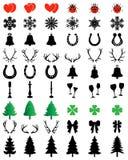 Coleção dos ícones do Natal Imagens de Stock Royalty Free