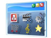 Coleção dos ícones do painel de controle ilustração royalty free