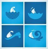 Coleção dos ícones do verão Imagem de Stock