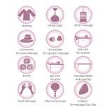 Coleção dos ícones que representam o bem-estar Imagem de Stock