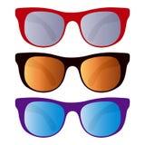 Coleção dos óculos de sol Fotografia de Stock