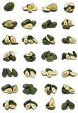 Coleção dos abacates. Fotografia de Stock Royalty Free