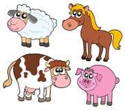 Coleção dos animais de exploração agrícola Fotografia de Stock
