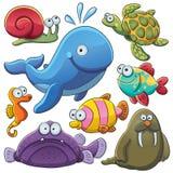 Coleção dos animais de mar Fotografia de Stock Royalty Free