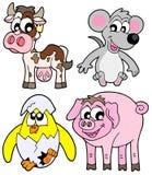 Coleção dos animais do país Imagens de Stock Royalty Free
