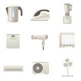 Coleção dos aparelhos eletrodomésticos Imagem de Stock Royalty Free
