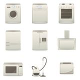 Coleção dos aparelhos eletrodomésticos Fotos de Stock Royalty Free