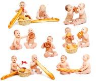 Coleção dos bebês do pão imagem de stock