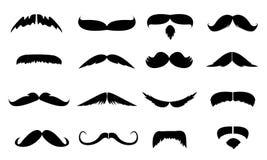Coleção dos bigodes Fotos de Stock