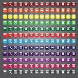 Coleção dos botões dos ícones da Web ilustração royalty free