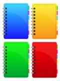 Coleção dos cadernos ilustração do vetor