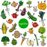 Coleção dos caráteres dos vegetais dos desenhos animados Fotos de Stock