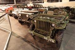 Coleção dos carros no museu do automóvel dos emirados Imagem de Stock