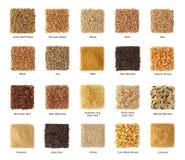 Coleção dos cereais imagens de stock royalty free