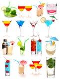 Coleção dos cocktail Fotos de Stock Royalty Free